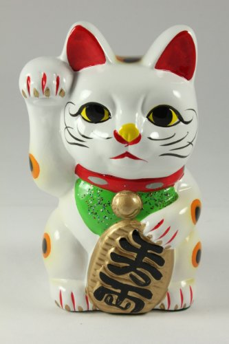 6 Feng Shui Maneki Neko Lucky Cat Money Piggy Bank
