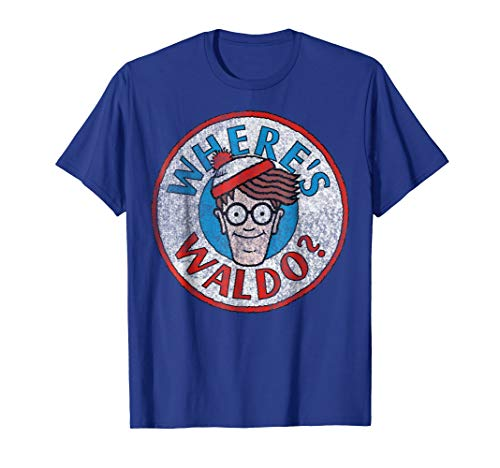 Where's Waldo Classic Circle Logo Graphic T-Shirt -
