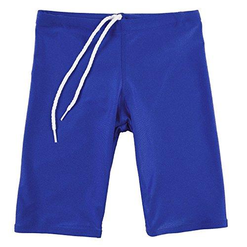 GaryM Kids Boys Solid Jammer Swim Suit (Size 12. Royal - Chart Swim Size Jammers