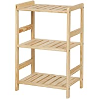 Furinno FNCJ-33011 Solid Wood 3-Tier Shelf
