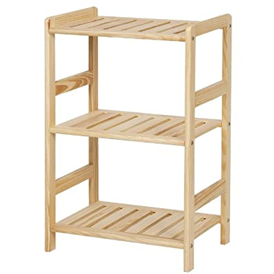 Furinno FNCJ-33011 Solid Wood 3-Tier Shelf - Simple stylish design yet functional and suitable for any room Material: Solid pine wood with lacquer Home office bookcase, bookshelves and also serve as display rack - living-room-furniture, living-room, bookcases-bookshelves - 41lOA1RDQGL. SS400  -