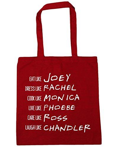 HippoWarehouse ser como Phoebe Rachel Monica Joey Chandler Ross Tote Compras Bolsa de playa 42cm x38cm, 10litros Classic Red