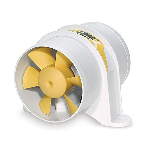 Shurflo Yellowtail 4'' Marine Blower 12Vdc 215Cfm Waterproof by SHURFLO (Image #1)