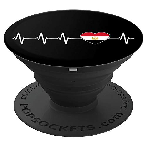 Egyptian Heartbeat - I Love Egypt Country Gift Idea   PopSockets Grip and Stand for Phones and Tablets