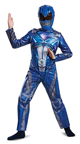 (Disguise Power Ranger Movie Classic Costume, Blue, Large)