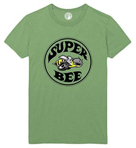 Super Bee Printed T-Shirt - Dill-Green - 6XL