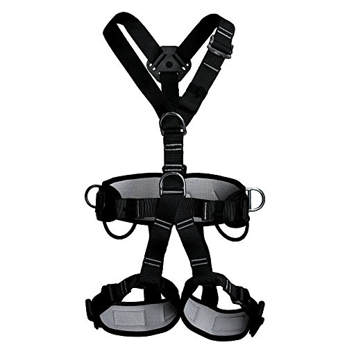 (Climbing Harness, Full Body Harness, Oumers Safe Belts Guide Harness For Outward Band Expanding Training, Caving Rock Climbing Rappelling Equip, Safety Comfort, Pro Avao Bod Fast)