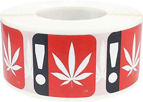 (Oregon Marijuana Cannabis Logo Warning Labels State Compliant 1 Inch 500 Adhesive Stickers )