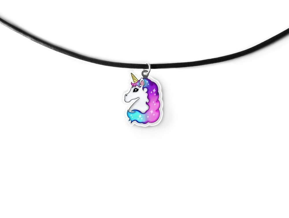 Light Unicorn Charm Choker - Rainbow Unicorn, Magical Unicorn, Fairy Kei, Kawaii Unicorn, Aeshtetic Grunge 6