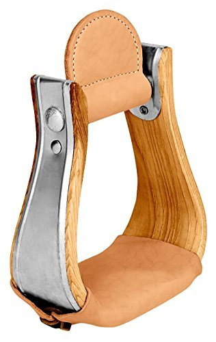 Weaver Leather Wooden Stirrups w Leather Treads Bell 3IN