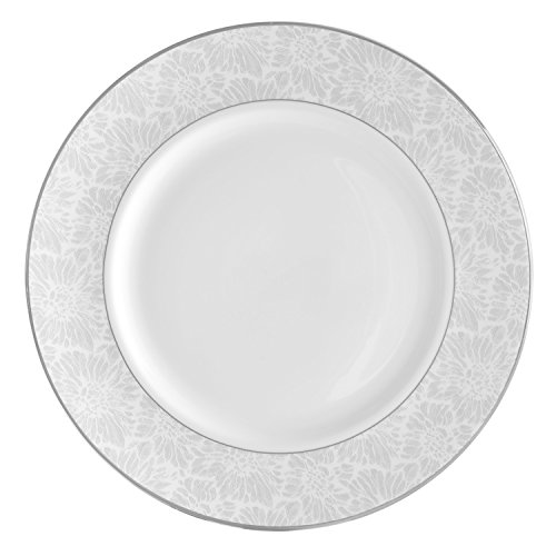 Wedgwood Vera Chantilly Lace Gray Dinner Plate, ()