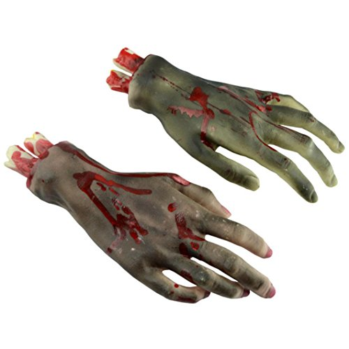 Elevin(TM)1 Pair 2017 Halloween Horror Props Bloody Big Size Broken Hands Haunted House Party Decoration -