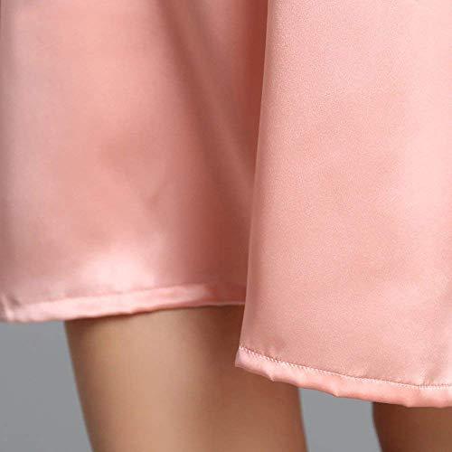 Elegante Pijamas Camisón Pijama Ropa Moda Flojo Betrothales Manga Rose Corta Suave Noche De Verano Cómodo Camisones Interior Señoras Chemise Dormir qE5AZ