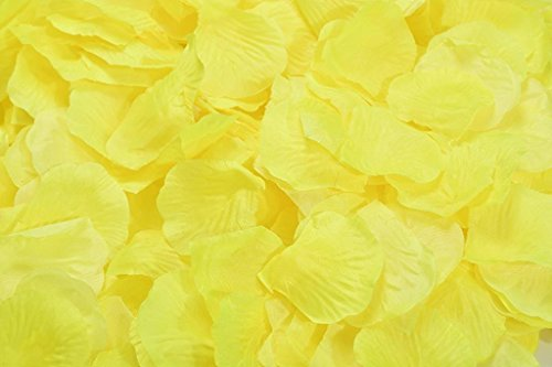 La Tartelette Silk Rose Petals Wedding Flower Decoration (2000 Pcs, Yellow) - Two Yellow Roses