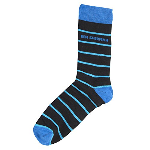 BEN SHERMAN Mens 'Alyn' Designer Cotton Rich 5 Pair Socks (Sizes - Sherman Uk Ben Sale