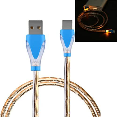 Mchoice 1PC LED Light Micro USB Charge Cable Charging Cord for Samsung galaxy s7 Edge Android