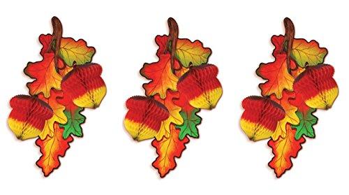 Beistle 99529 Tissue Madras Acorns 3 Piece 3, 12