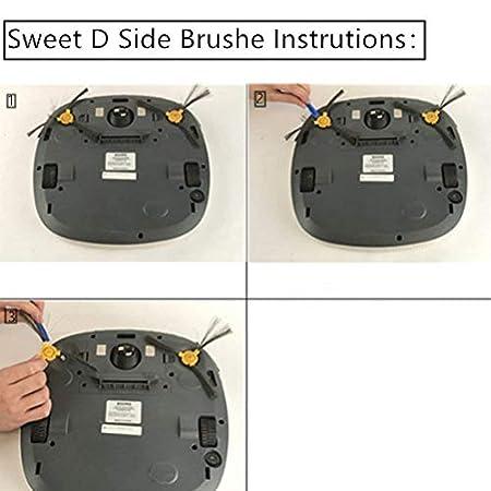 Sweet D Accesorios de Recambios Conga Excellence 990 Ecovacs Deebot N79 N79S Robotic Aspiradora, HEPA Filtros y Cepillos Laterales, 18 pzs: Amazon.es: Hogar