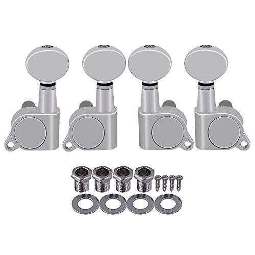Ukulele Machine Heads Alloy Button Tuning Pegs Set of 4 Chrome - 4