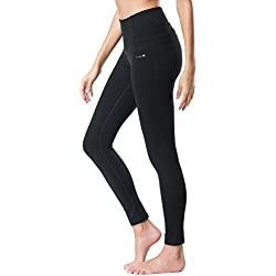 Dragon Fit Compression Yoga Pants Power Stretch Workout Leggings With High Waist Tummy Control, 02black, X-Large