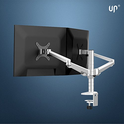 Magichold 360º Rotate Height Adjustable Duel Arm LCD Monitor ,Tv Mount/stand/holder- 2 Arms That Hold 2 Monitors Upto 27'' by MagicHold®