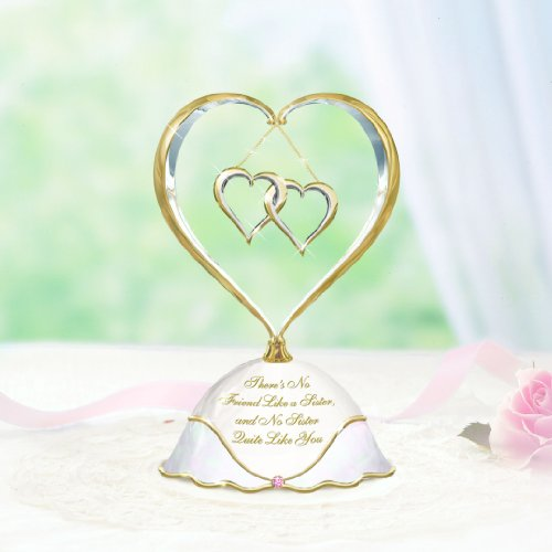 A Sister Like You At Heart Porcelain Music Box Porcelain Heart Jewelry