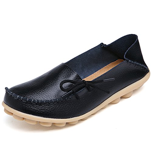 CIOR Genuine Leather Moccasin Slippers