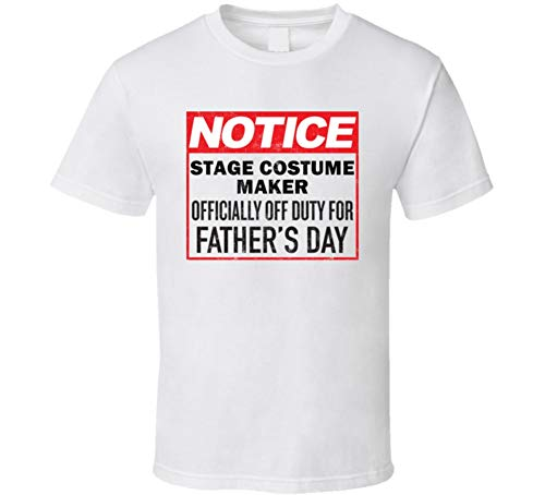 Stage Costume Maker Occupation Off Duty T Shirt L White -
