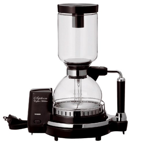 TWINBIRD siphon coffee maker dark brown CM-D853BR