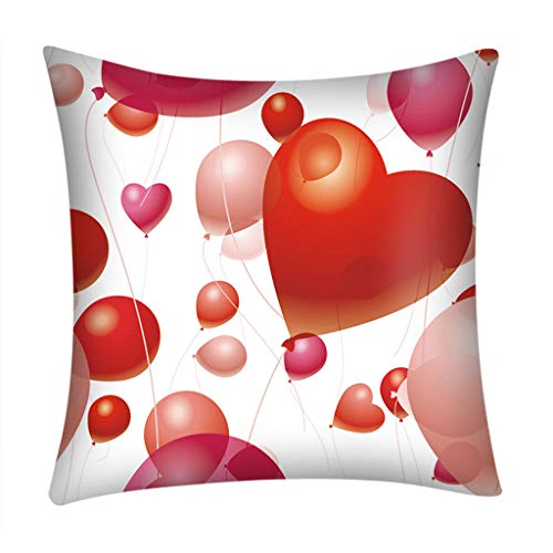 Featurestop Valentine's Day Decor Gifts for Women Pillow Soft Soild Decorative Square Throw Pillow Cushion