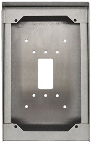 Aiphone Corporation SBX-ISDVF Surface Mount Box for IS-DVF, IS-IPDVF, or IS-SS Door Stations, 18AWG Stainless Steel by Aiphone Corporation