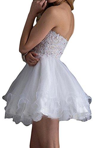 Damen Partykleider Abschlussballkleider Kurzes Marie Abendkleider La Cocktailkleider Weiß Mini Braut Tanzenkleider 0UqxxwHE