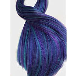 """Deluxe Nylon Doll Hair Blends for Rerooting Dolls, Doll Wigs, Rehair, DIY - 20 Grams - 18"""" Length Professional Doll Grade Quality (Mermaid)"""