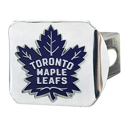 Colour Leaf - FANMATS NHL Toronto Maple Leafs Color Hitch - Chromecolor Hitch - Chrome, Team Colors, One Sized
