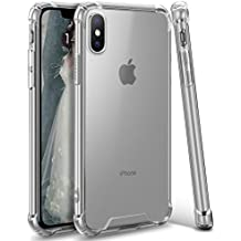 iPhone X Case, iPhone 10 Case, Ansiwee Apple iPhone X Crystal Clear Shock Absorption Soft TPU Bumper Hard Back Panel Cover Case for Apple iPhone X (2017) (Clear.)