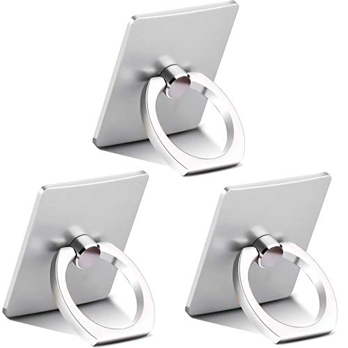 [3Pack] Finger Ring Stand, iEugen Cell Phone Holder : Universal Phone Ring Cradle Kickstand Compatible with Phone Xs Max XR X 8 7 6 6s Plus 5 5s se,Samsung Galaxy S8 S7 S6,All Smartphone - Black
