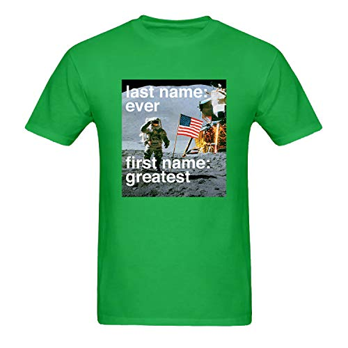 Men's Last Name Ever, First Name Greatest Funny Graphic T-Shirt Gift Idea Unisex Short Sleeve Tees Green XXL (Last Name Ever First Name Greatest T Shirt)