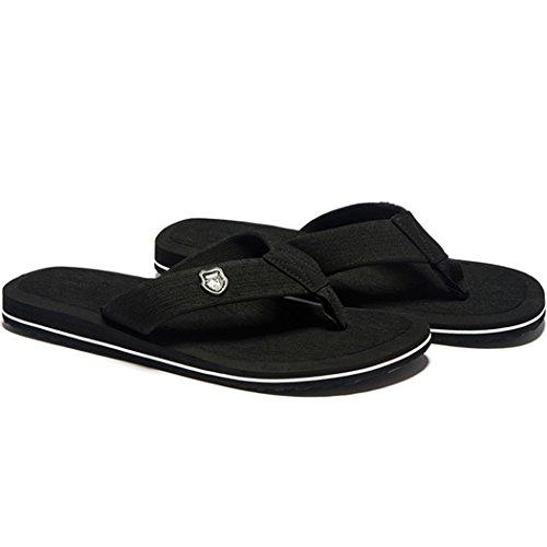 Platte Sandalen Met Platte Sandalen Voor Heren (zwart Eu43)