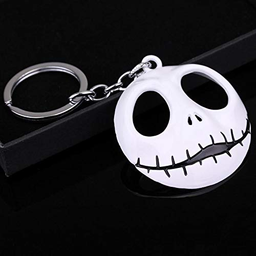BATOP Nightmare Before Christmas Movie Jewelry The Nightmare Before Christmas Keychain Skull mask Pendant 3 Colors keyrings for Women and Men -