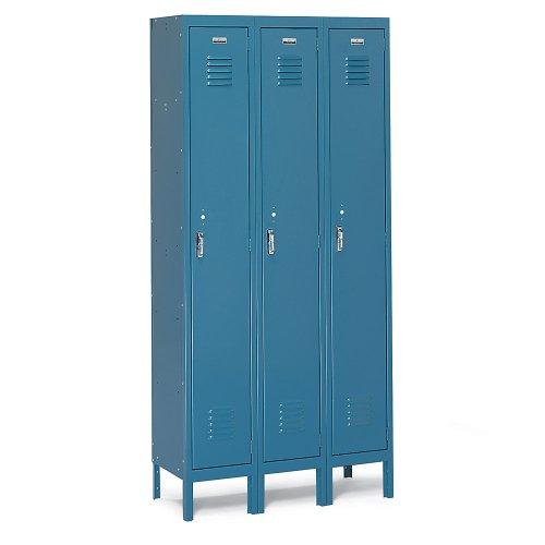 Box Locker, 36inW, 15inD, 66inH, Gray, One