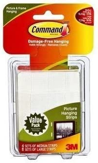Command Medium and Large Picture Hanging Strips Value Pack 4 medium 8 large