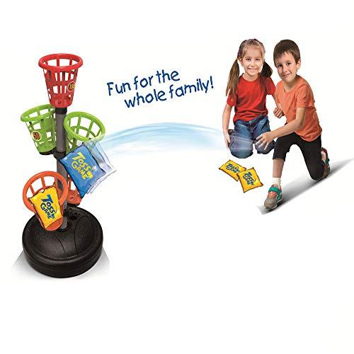 COLOR TREE Tic-Tac-Toss Bean Bag Toss Game Set Sporty Basket Bash Bean Bag Corn Hole Outdoor Indoor Game Set ()