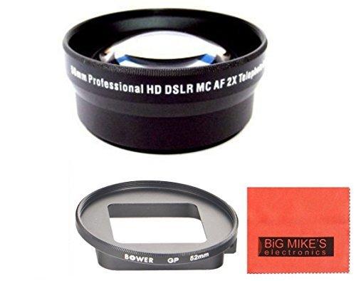 52mm 2X Telephoto Lens For Gopro Hero3+, Hero4 Camera