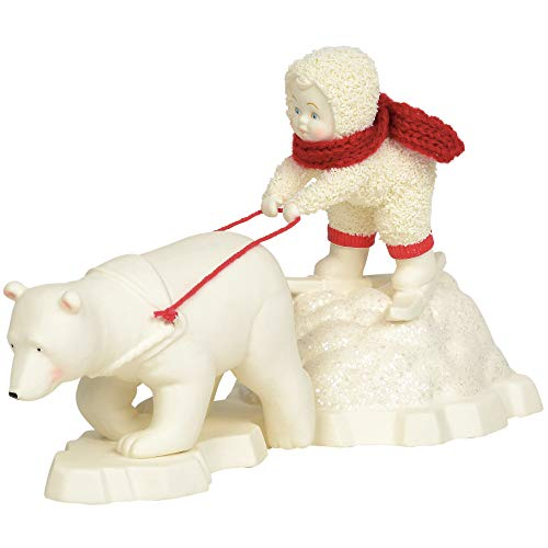Department 56 Snowbabies Classics Polar Bear Pull Figurine, 5 Inch, Multicolor