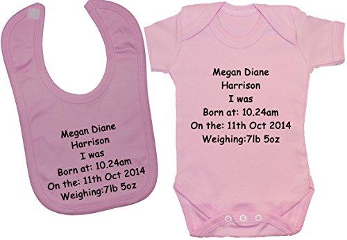 con peso para de personalizados nacimiento nombre Acce fecha beb hora Body Productos y qTPWEZUw1