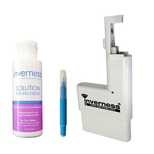 INVERNESS Kit - Ear Piercing Instrument, Marking Pen, 4oz Ear Care Antiseptic by Inverness