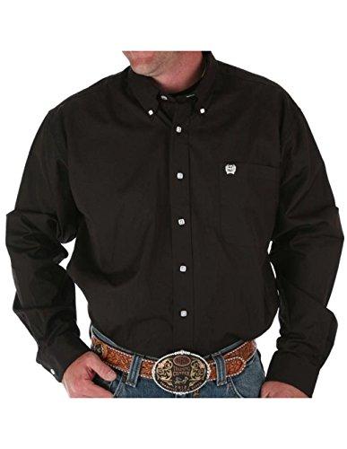 Cinch Apparel Mens Pinpoint Oxford Long Sleeve Shirt 3X XXXL Black