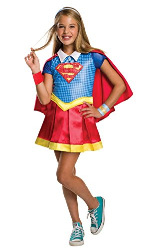 Costume Superwoman Shoes (Rubie's Costume Kids DC Superhero Girls Deluxe Supergirl Costume,)