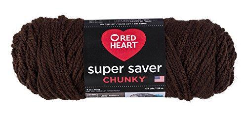(Red Heart Super Saver Chunky, Coffee Yarn,)