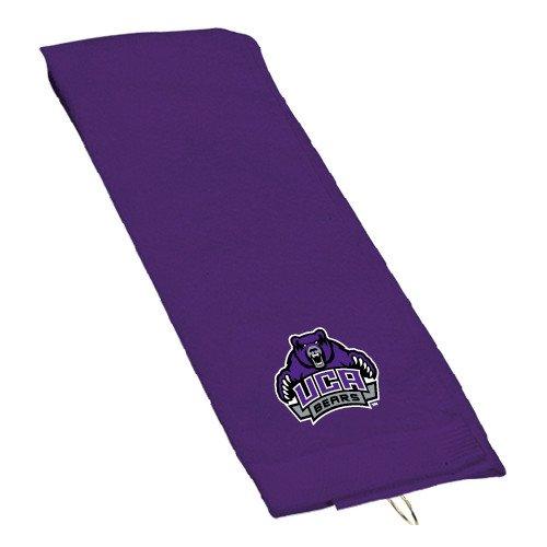 Bears Embroidered Golf Towel - Central Arkansas Purple Golf Towel 'UCA Bears w/Bear'